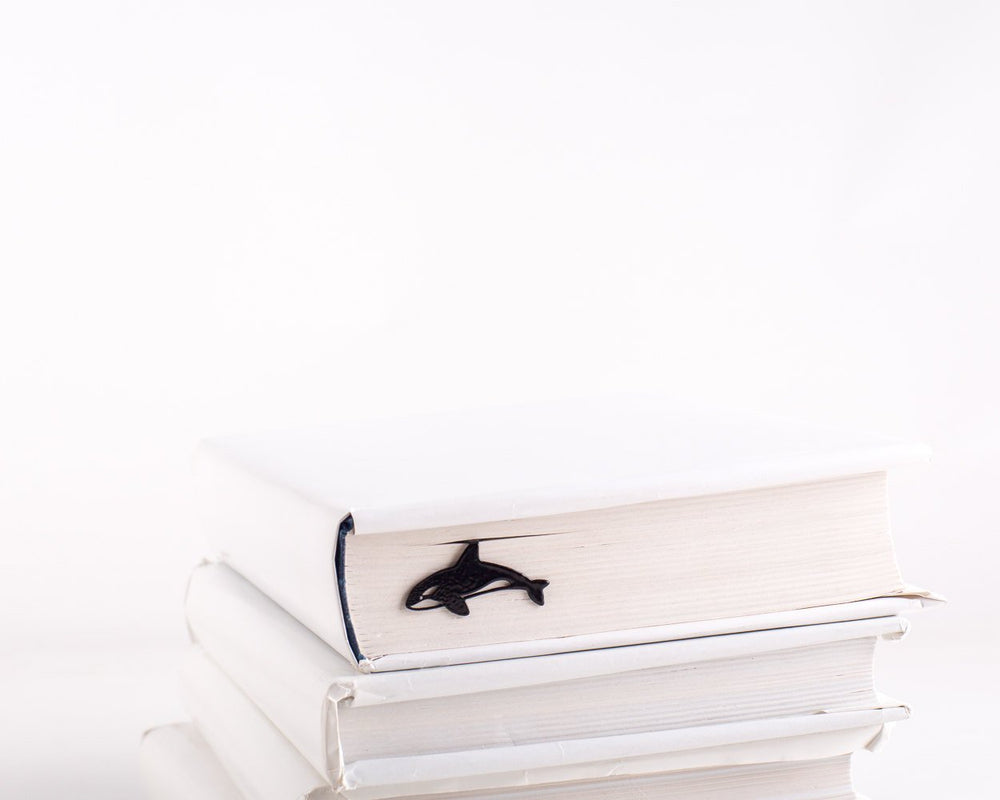 Metal Book Bookmark Killer Whale // Orca by Atelier Article - Design Atelier Article