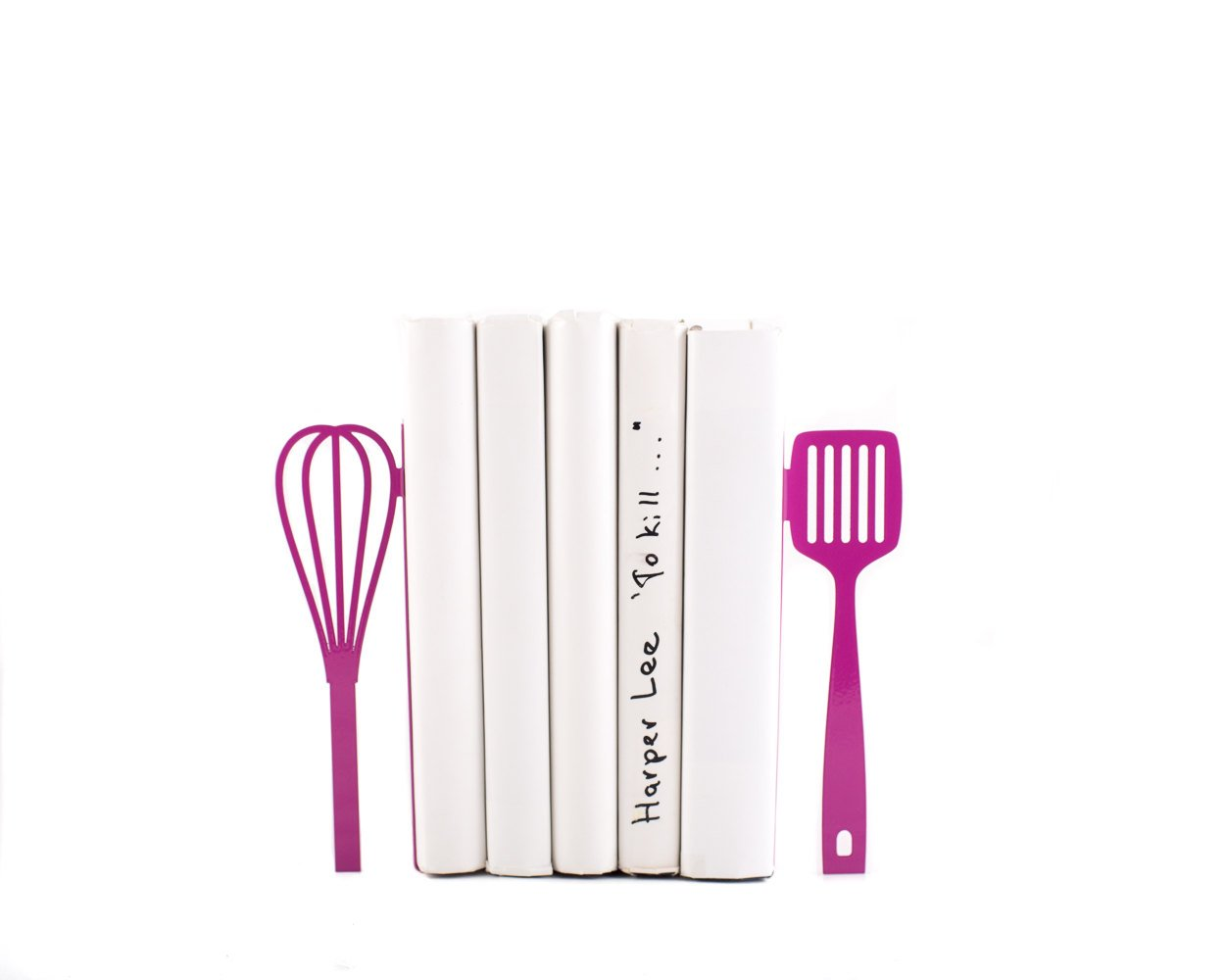 Metal Kitchen Bookends // Spatula and whisk Purple // functional modern kitchen decor // housewarming present // FREE WORLDWIDE SHIPPING // - Design Atelier Article