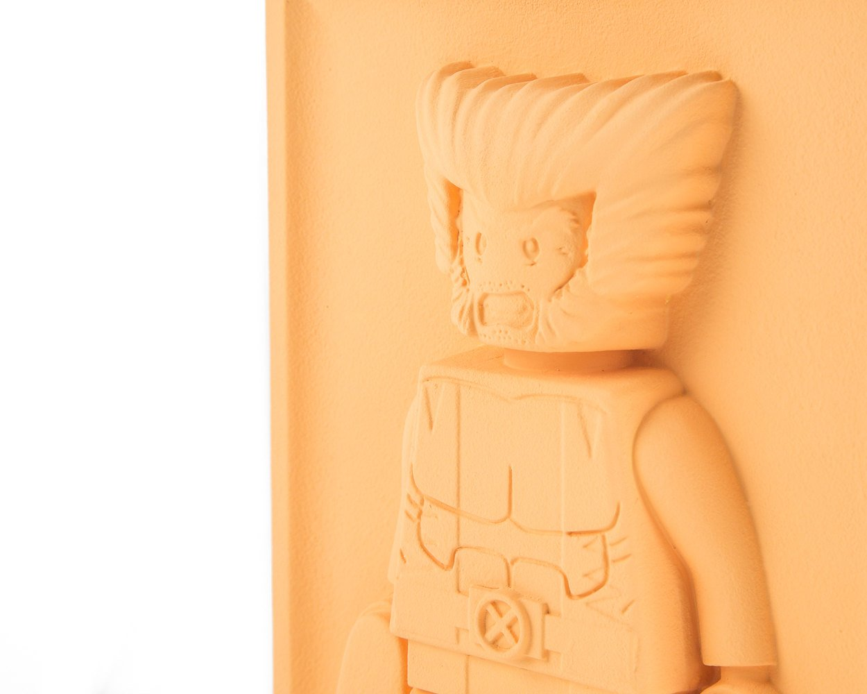 Unique Nursery LEGO man decor plaster bas-relief / Wolverine wall pane