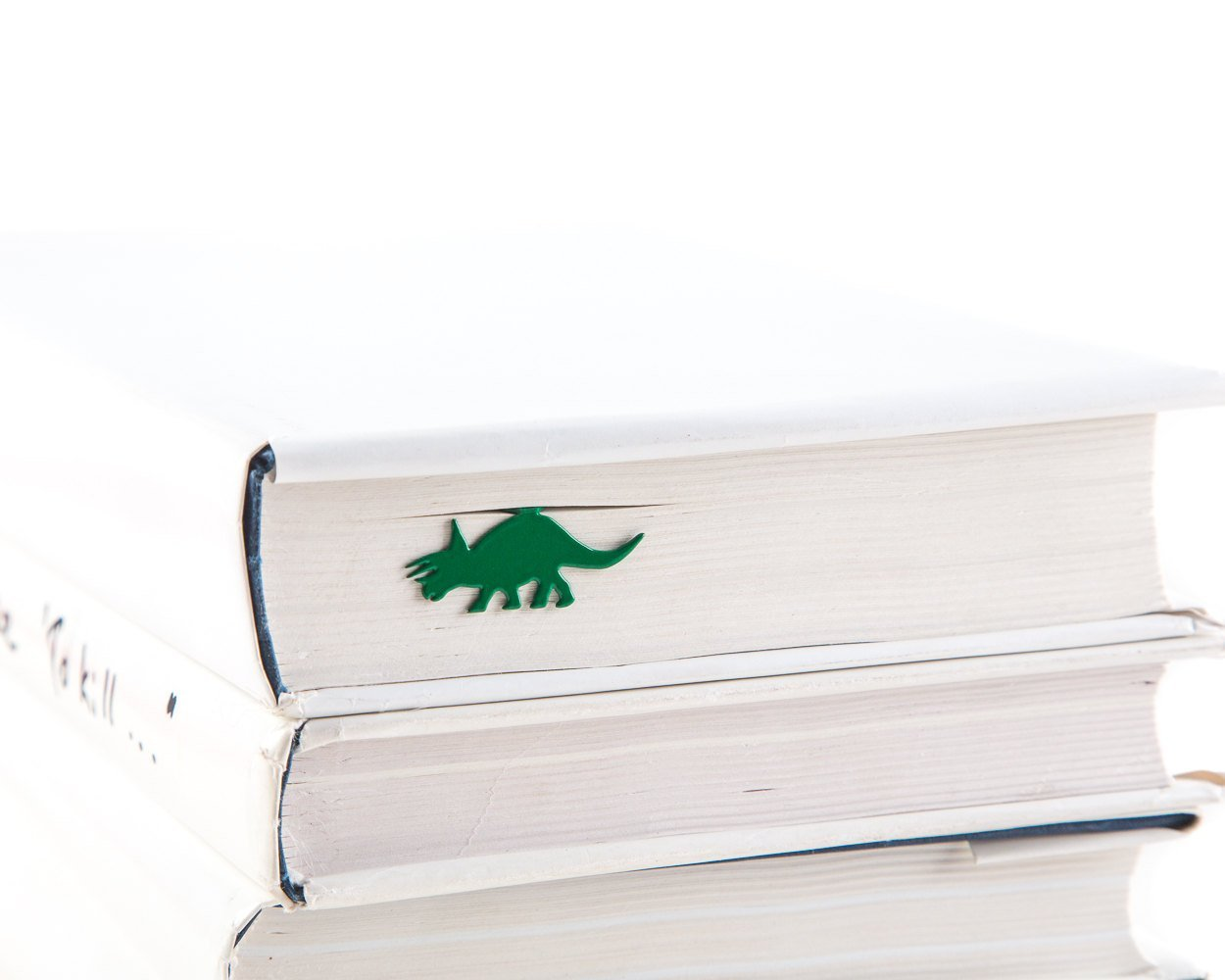 Dinosaur Book Bookmark  // Triceratops // unique design bookmark // metal // stylish unique present for a book lover // Free shipping // - Design Atelier Article