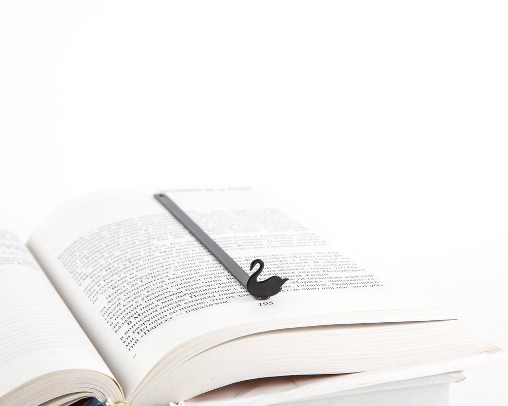 Metal Bookmark for books Black Swan by Atelier Article - Design Atelier Article