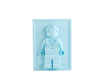 Unique Nursery LEGO man decor plaster bas-relief / Superman wall panel // modern kids room/nursery / Free Shipping to the US and EU