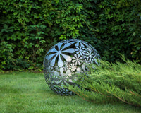 Hand welded metal garden sculpture Flower Ball a unique artistic decor in your creative garden // 28 inches diameter // 16 ga metal - Design Atelier Article