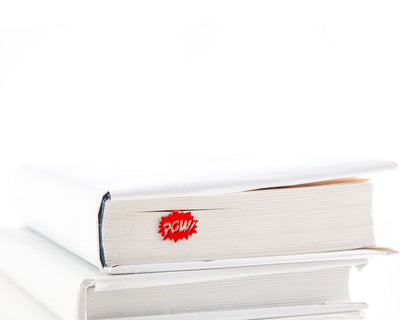 Metal Bookmark Speech Bubble Pow Red by Atelier Article - Design Atelier Article