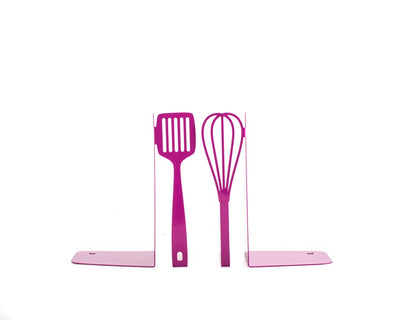 Metal Kitchen Bookends // Spatula and whisk Purple by Article