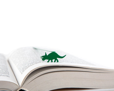 Metal bookmark for books Dinosaur // Tricerator by Atlelier Article - Design Atelier Article
