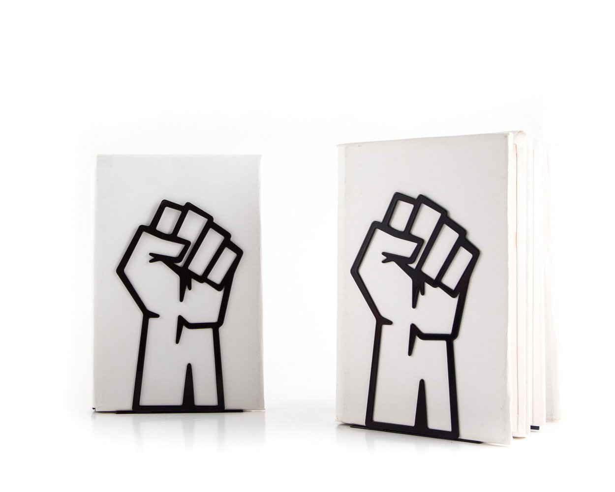 Bookends Unity // raised fist // support // FREE SHIPPING - Design Atelier Article