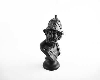 Black Bust Pericles Ceramic Plaster Sculpture by Atelier Article - Design Atelier Article