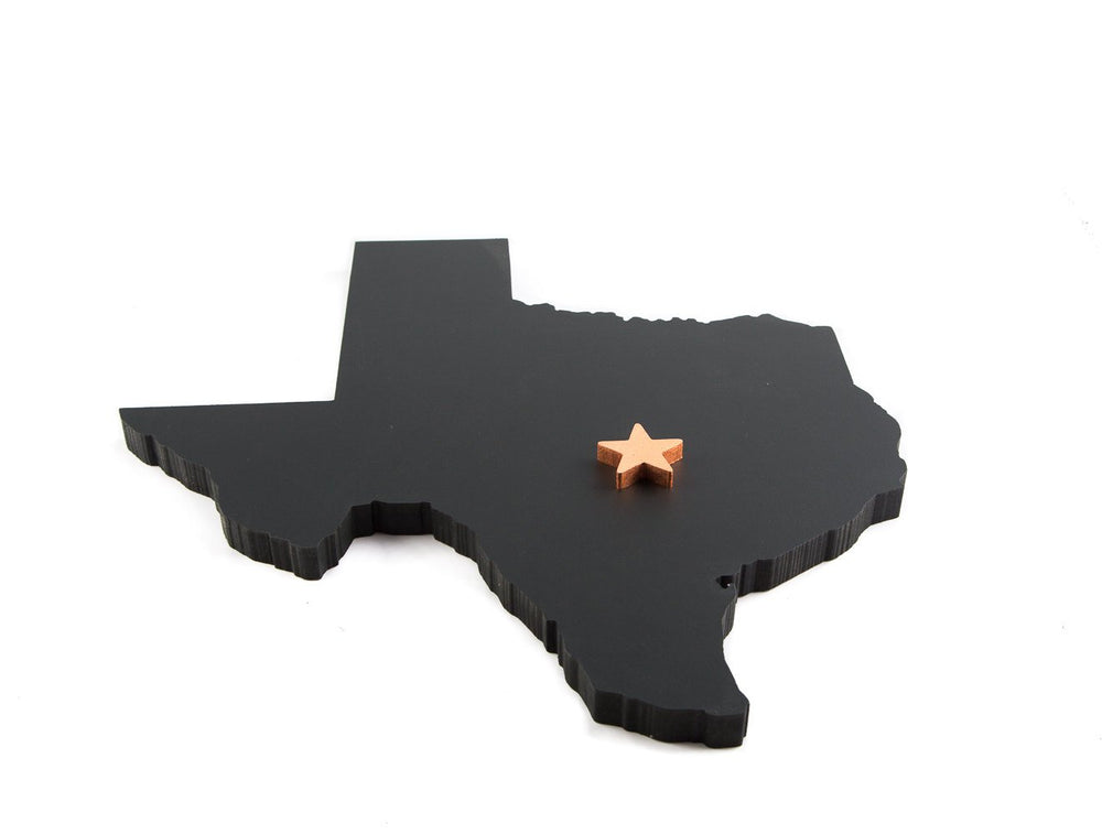 Texas state with a copper star // Wall hanging // Texas home decor // FREE SHIPPING //  hand painted // USA state sign // Home state