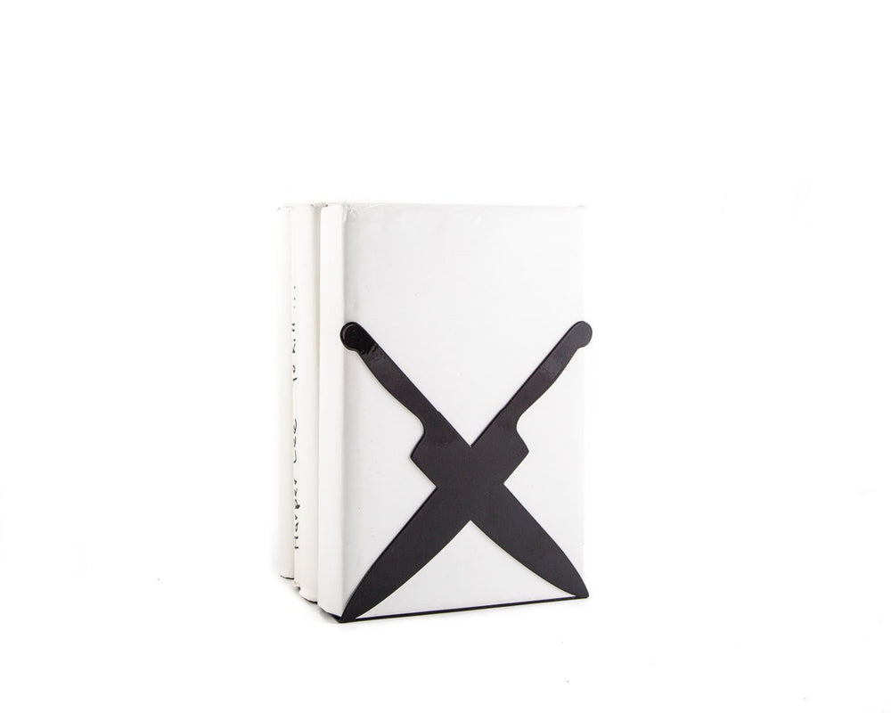 Kitchen bookend Crossed Knives // kitchen shelf decor by Atelier Article - Design Atelier Article