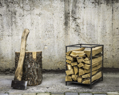 Log Holder Small square  // Carrier // Firewood Storage by Atelier Article - Design Atelier Article