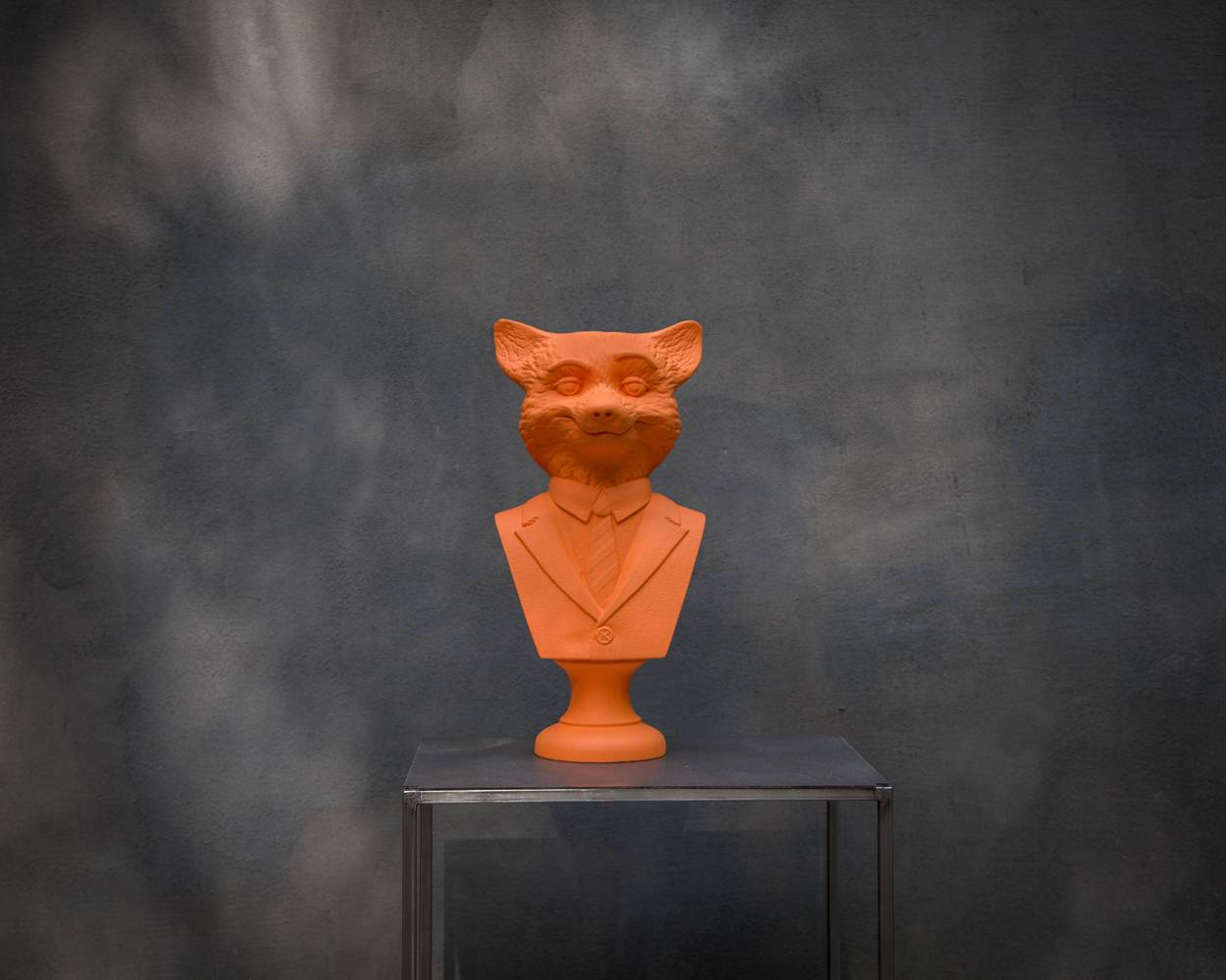 Red Fox Bust // Modern sculpture // Mr Fox inspired // Animal head //  Woodland art statue // Free Shipping Worldwide