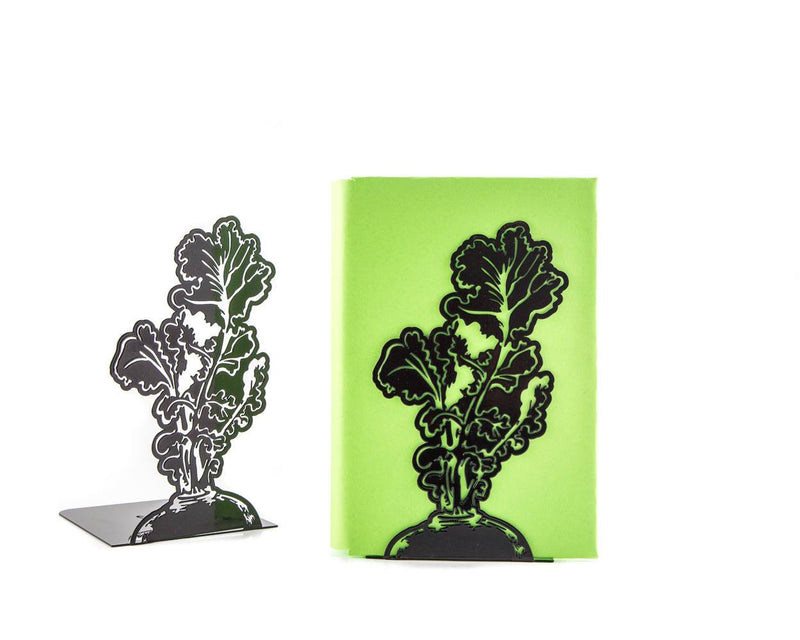 Metal bookends Beetroot // gift for a Garden fan // Country style - Design Atelier Article