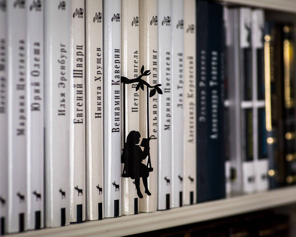 The Girl on a Swing Book Divider or Stand Up Bookmark // Bookish Gift // Free shipping // Present for reader // Gift for young adult fan