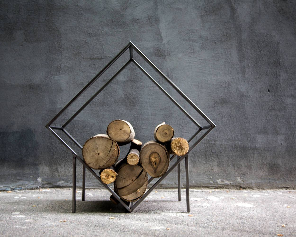 Firewood storage // Qvadrat // Log holder for indoors // free shipping - Design Atelier Article