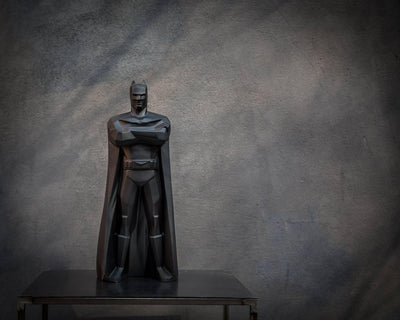 Batman Statue // Geometric decor for modern home // Dark knight decor Gotham city by Atelier Article