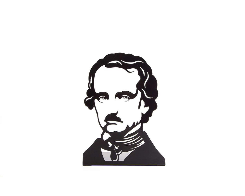 One Decorative bookend Edgar Allan Poe // modern functional decor for the smartest books // FREE SHIPPING // perfect housewarming gift - Design Atelier Article