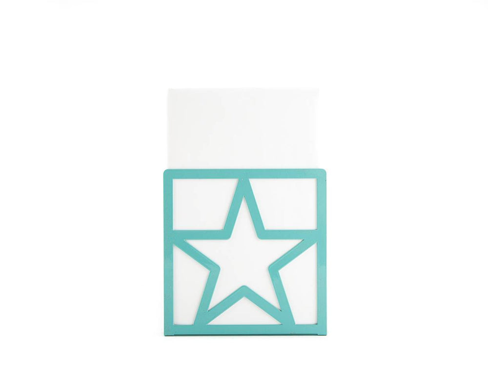 Metal bookends Star Teal by Atelier Article