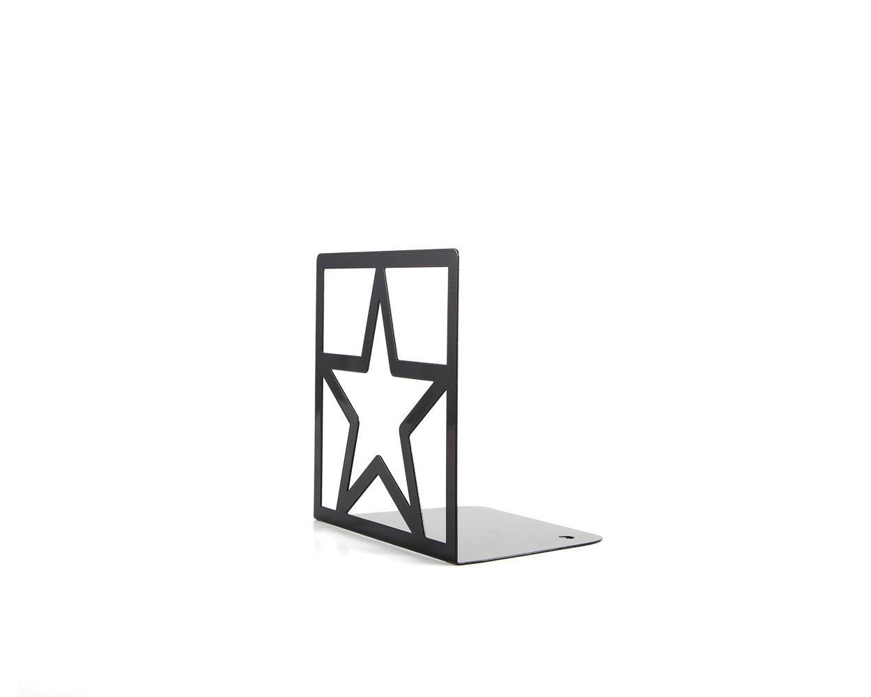 Metal bookend Black Star // functional shelf decor for modern home - Design Atelier Article