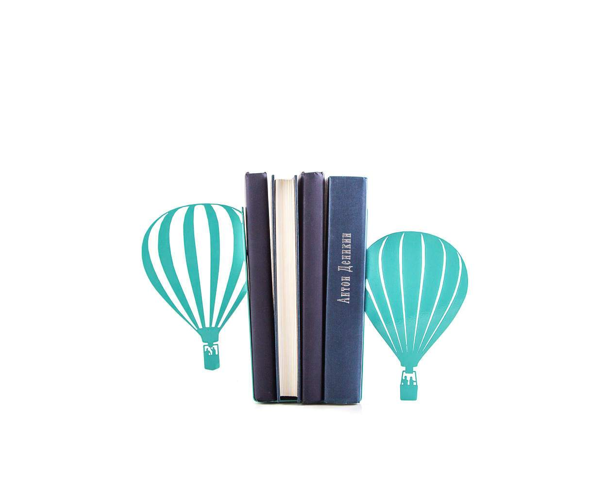 Bookends Hot Air Balloon // Traveler's adventure theme nursery // teen's room decor // Free Shipping // Gift for travel lover - Design Atelier Article