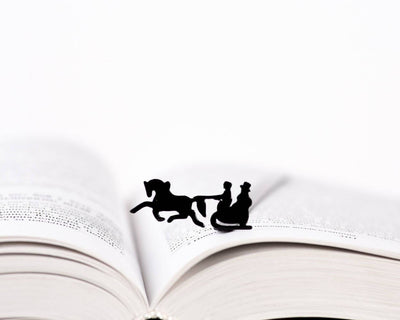 Metal Bookmark for books Winter sleigh by Atelier Article - Design Atelier Article