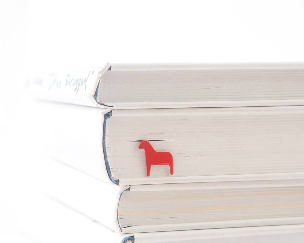 Metal Bookmark for books Red Dala Horse by Atelier Article - Design Atelier Article
