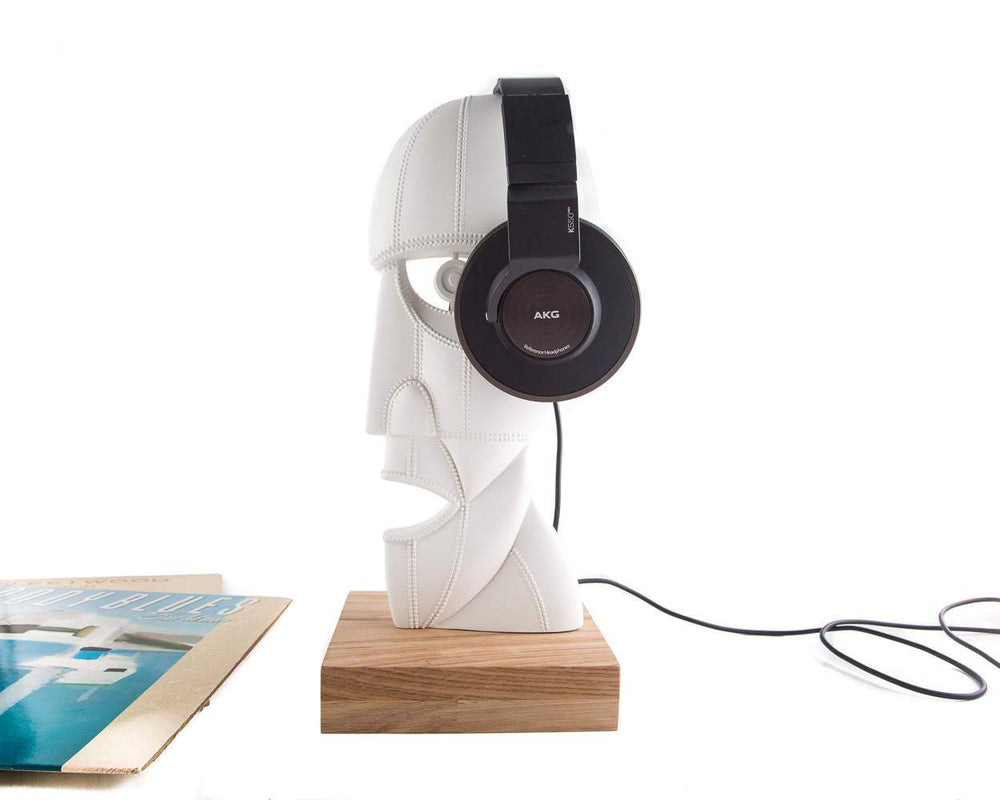 Headphone stand Division Bell Pink Floyd inspired sculpture / bust - Design Atelier Article