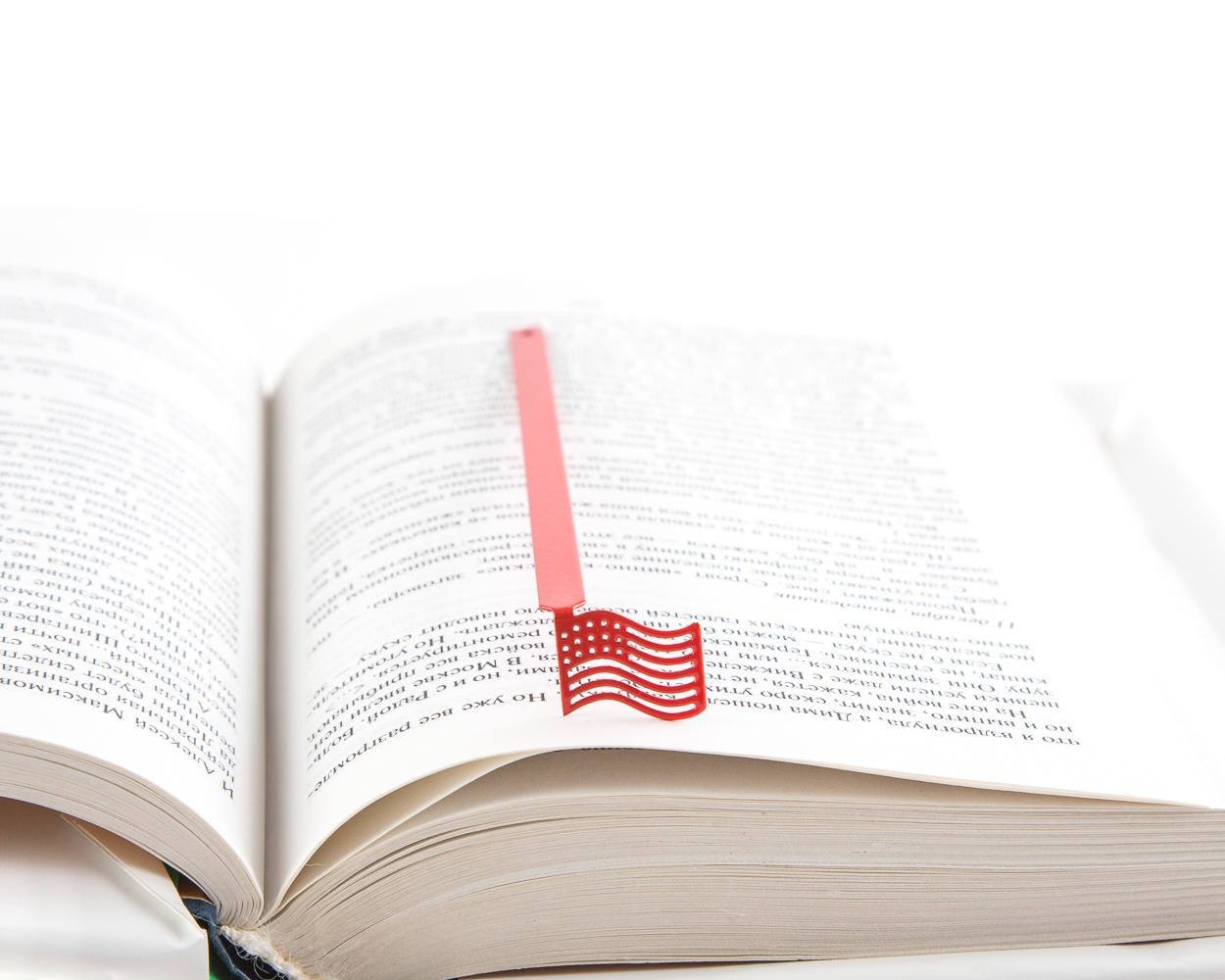 Stars & Stripes Bookmark // metal book bookmark // US flag // unique bookmark design  // free worldwide shipping