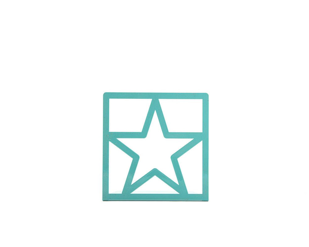 Modern bookends Star Teal by Atelier Article