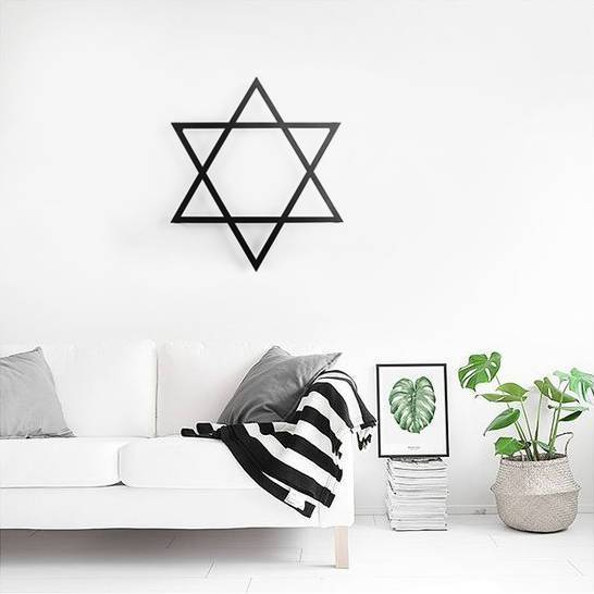 Metal Star of David  Wall Art // Laser cut Star of David Metal Wall Hanging for a modern Home // Free Shipping Worldwide - Design Atelier Article
