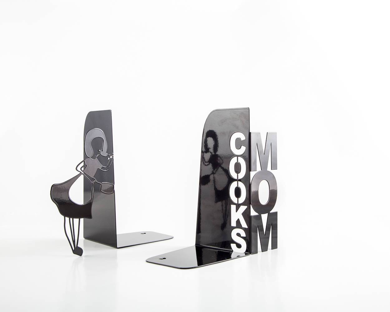 Metal Kitchen bookends // Mom Cooks // - Design Atelier Article