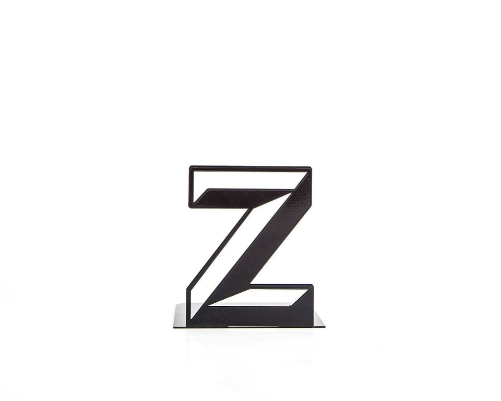 Metal Bookend Alphabet Z Letters by Atelier Article - Design Atelier Article