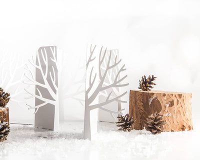 Unique Metal bookends - Winter trees - Scandinavian theme // modern home // nursery decor // children's room // free shipping