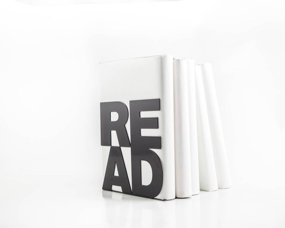 One metal bookend // Read // modern functional decor for your favorite books // FREE SHIPPING // Christmas // housewarming present