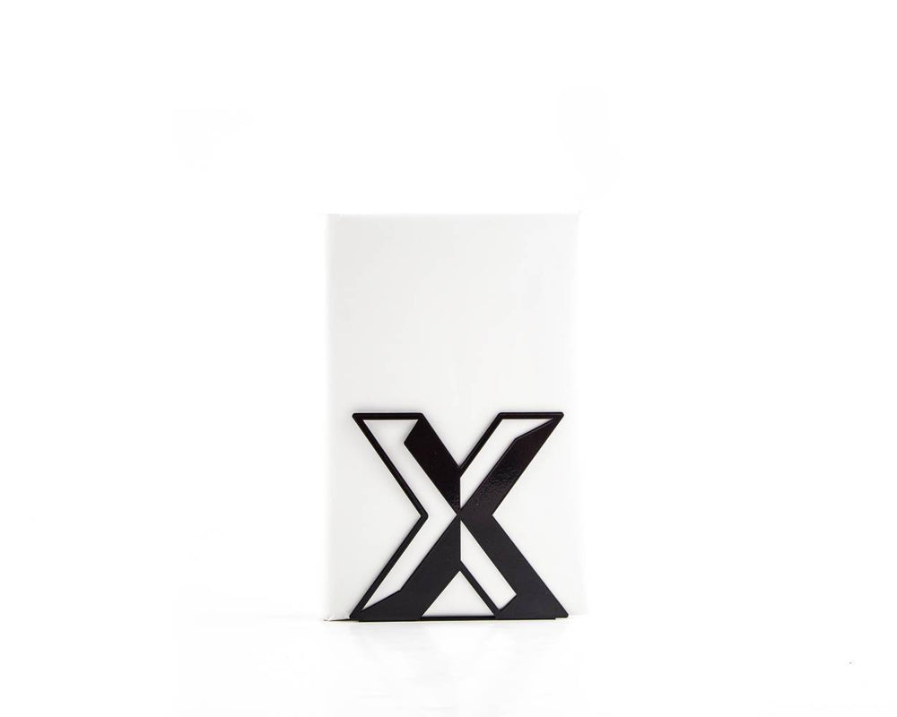 Metal bookend Alphabet Letter X by Atelier Article - Design Atelier Article