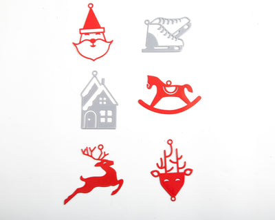 Minimalistic Traditional Christmas ornaments a set of 6 by Atelier Article