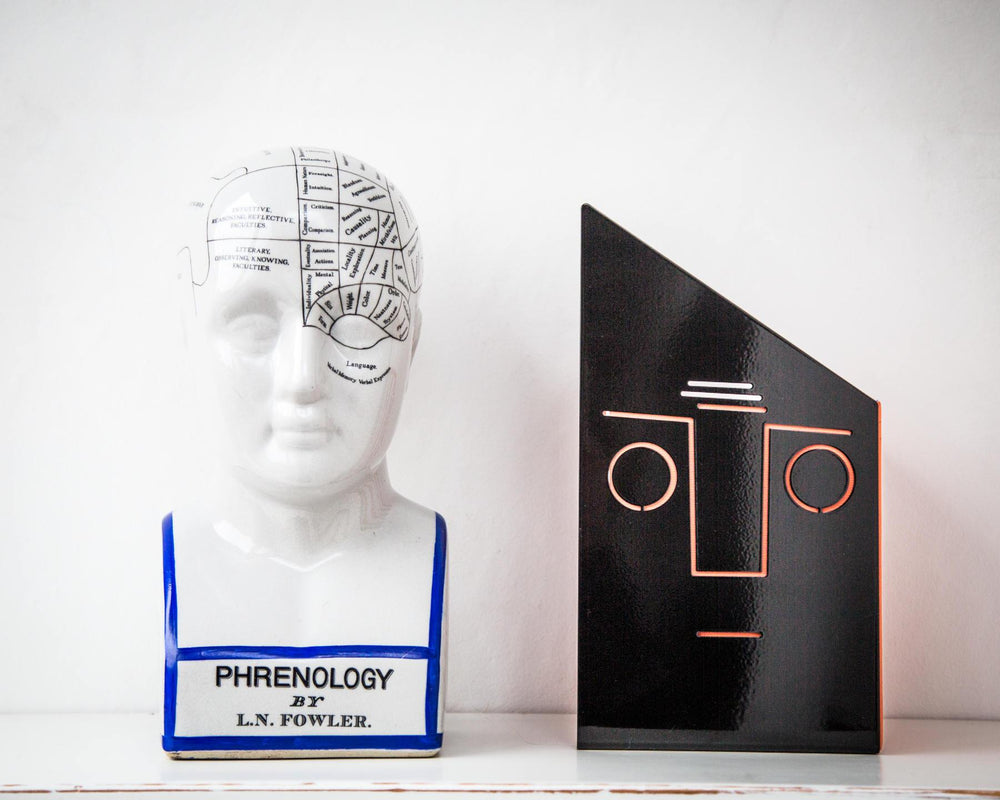 One metal bookend // Face // functional decor for your favorite books // FREE SHIPPING // Christmas // housewarming present