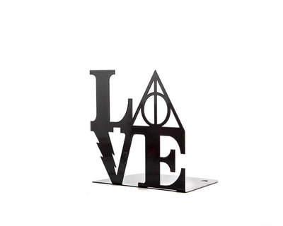 One metal bookend Harry Potter Love // Book holder for beloved classic tale, loved by all ages // FREE SHIPPING