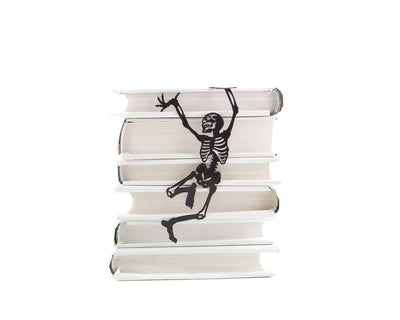 Metal bookmark for books // Happy reading skeleton // Dancing bones - Design Atelier Article