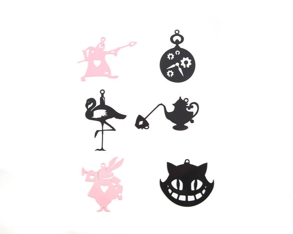 Minimalistic Christmas ornaments Alice in Wonderland set of 6 by Article