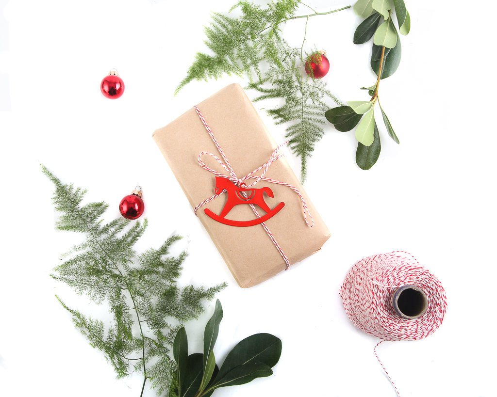 Minimalistic Traditional Christmas ornaments a set of 6 // ready to give packaging // FREE SHIPPING - Design Atelier Article