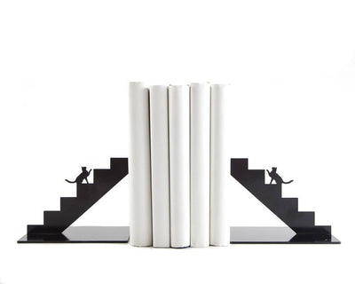 Decorative Bookends - Cat on the stairs - // gift for cat lover // FREE  SHIPPING - Design Atelier Article
