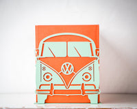 A pair of metal bookends // Volkswagen Camper // functional decor for your favorite books / FREE SHIPPING / Christmas / housewarming present - Design Atelier Article