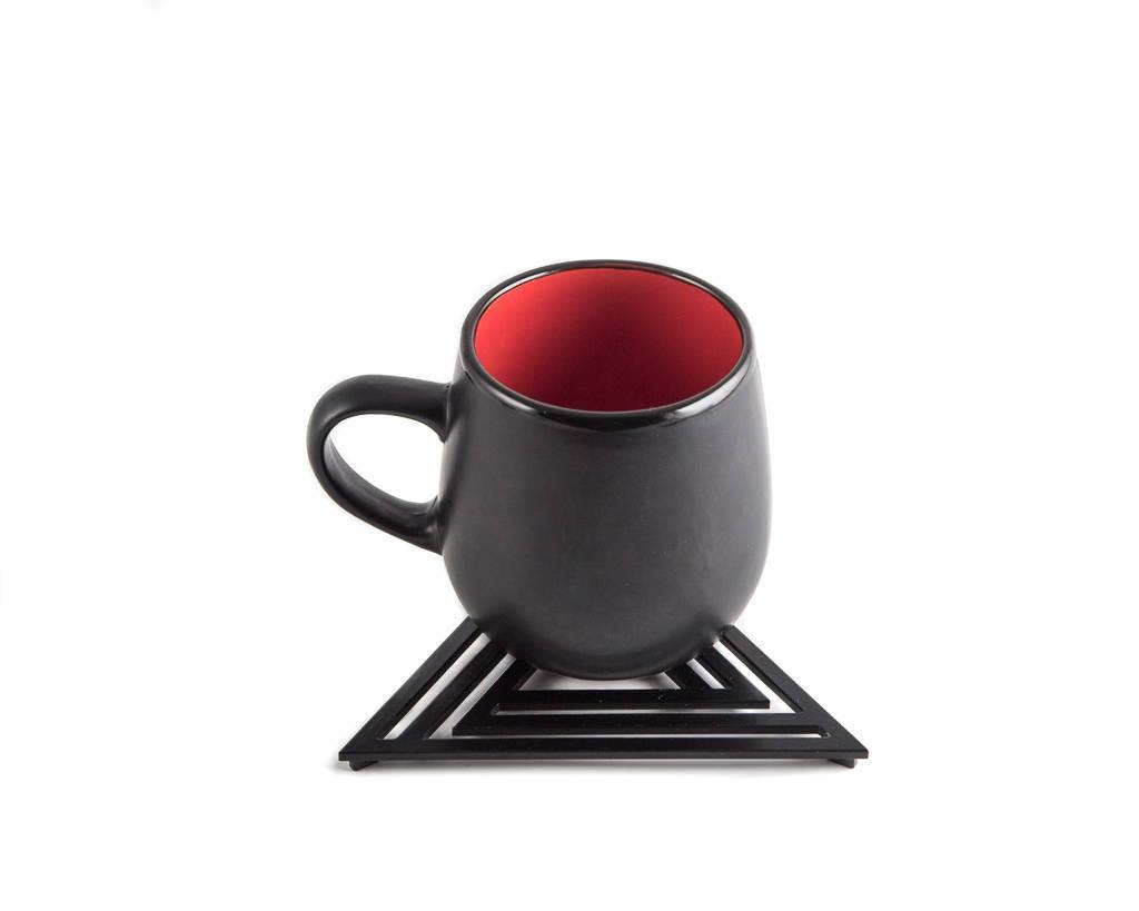 Metal trivet Geometry design Triangle //Bauhaus inspired // stylish housewarming gift // Free Shipping Worldwide - Design Atelier Article