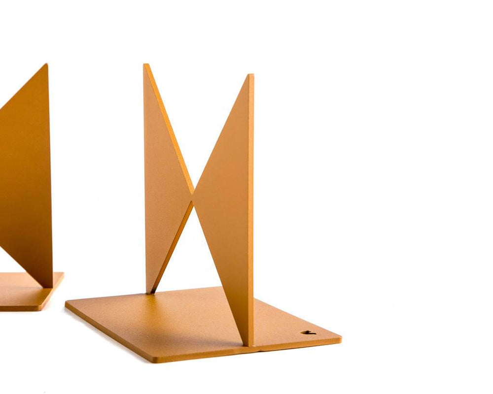 Metal Bookends Butterflies gift for a reading Bauhaus design lover by Atelier Article - Design Atelier Article