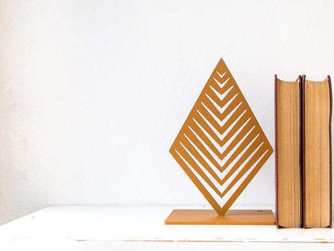 Metal Bookends Geometrical Sprout // gift for a reading design lover // FREE  SHIPPING - Design Atelier Article