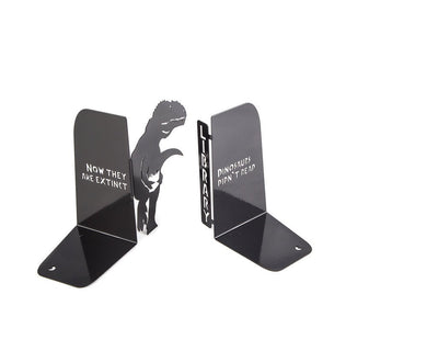Metal Bookends // Dinosaurs didn't read Now they are extinct // Free Shipping - Design Atelier Article
