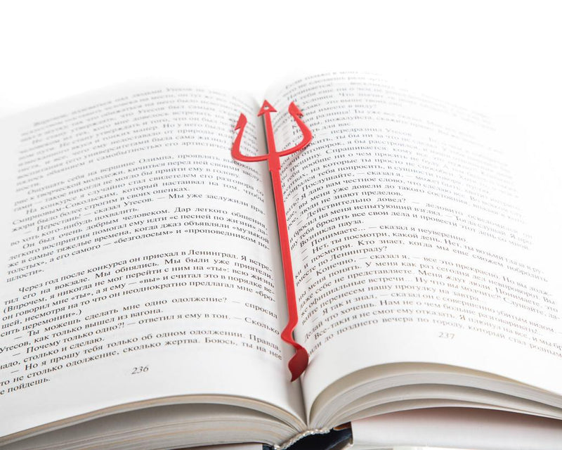 Metal bookmark for books Devil's Trident - Design Atelier Article