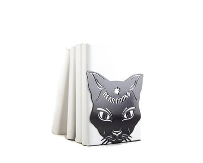 One metal bookend Cats Read Books // Cat's whisper // FREE SHIPPING