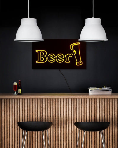 Man cave Wall Light Neon Sign style BEER LED technology // Wall Art by Atelier Article - Design Atelier Article